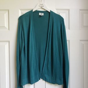 Old Navy Teal Open Cardigan